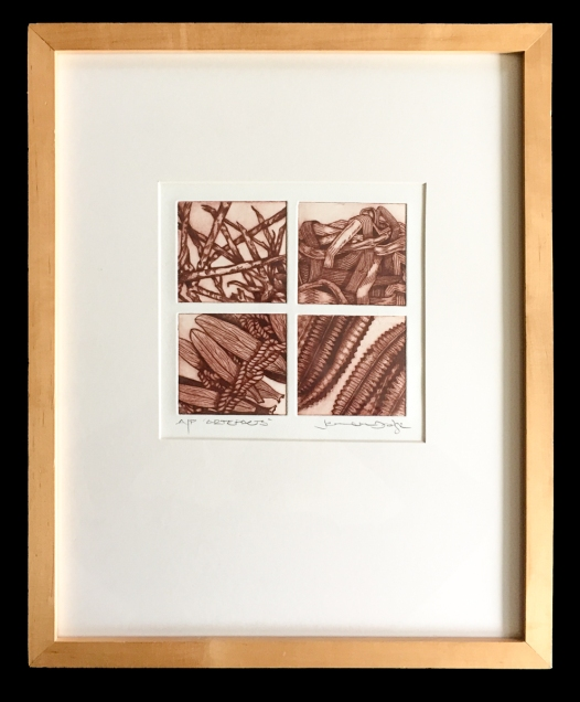 Artefacts 1-4, Drypoint prints