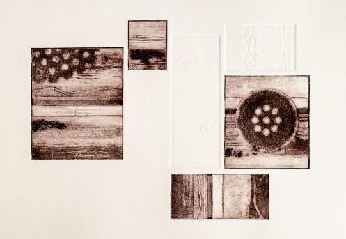 Composition (Detail), Collagraph