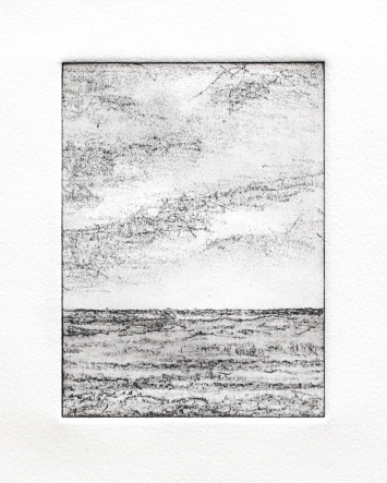 Seascape soft ground etching